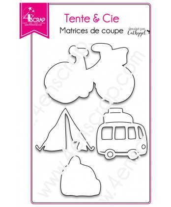 Cutting die Scrapbooking Card Making bicycle bus - Tent & Co