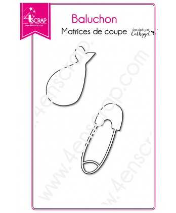 Matrice de coupe Scrapbooking Carterie bébé épingle nourrice - Baluchon