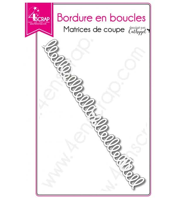 Matrice de coupe Scrapbooking Carterie halloween - Bordure en boucles