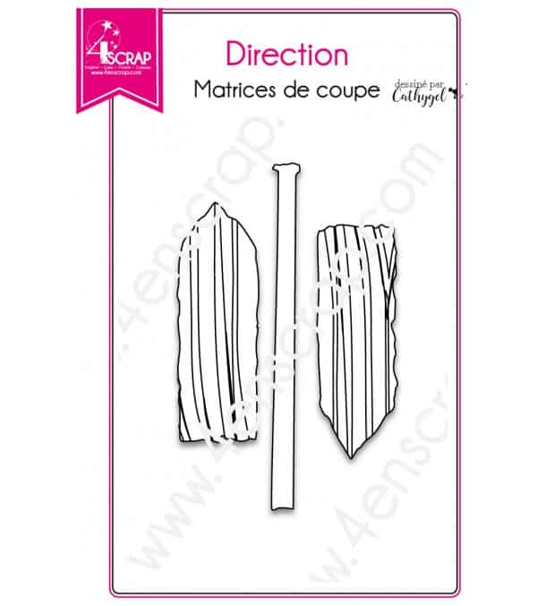 Matrice de coupe Scrapbooking Carterie pancarte étiquette - Direction