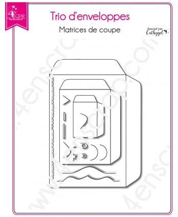 Matrice de coupe Scrapbooking Carterie rectangle - Trio d'Enveloppes