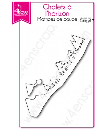 Cutting die Scrapbooking Card Making - Cottage on horizon