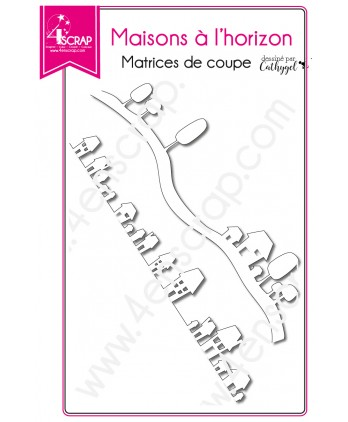 Matrice de coupe Scrapbooking Carterie bordure - Maisons à l'horizon
