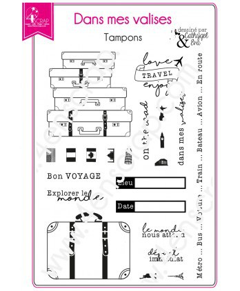 Clear stamp Scrapbooking Card Making travel holiday - In my suitcase