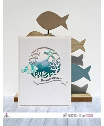 Matrice de coupe Scrapbooking Carterie vent mer - Vagues