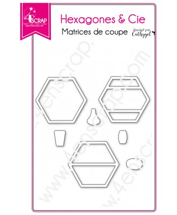 Cutting die Scrapbooking Card making shape deco vase - Hexagons & Co