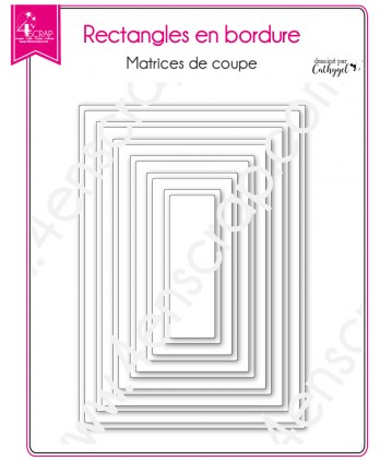 Cutting die Scrapbooking Card making frame label shape - Rectangles with borders