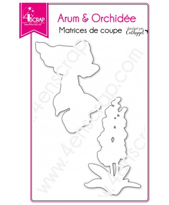 Cutting die Scrapbooking Card making deco flower plant - Arum & orchid