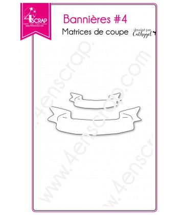 Cutting die Scrapbooking Card making label - Banners 4