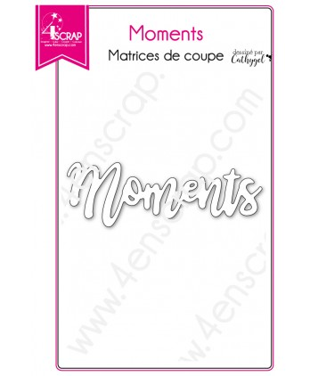 Cutting die Scrapbooking Card making word moment memory - Moments