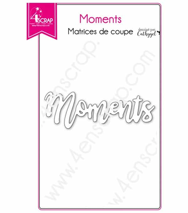 Matrice de coupe Scrapbooking Carterie mot instant souvenir - Moments