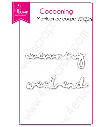 Matrice de coupe Scrapbooking Carterie mot week end - Cocooning