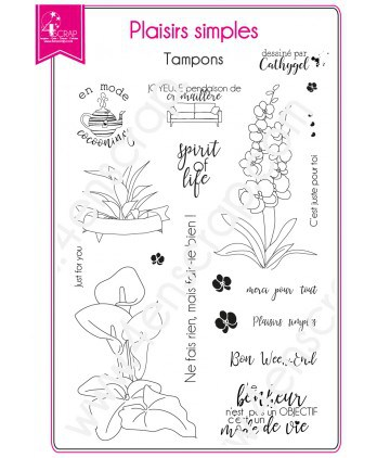 Clear stamp Scrapbooking Card making deco plant - Simple pleasures