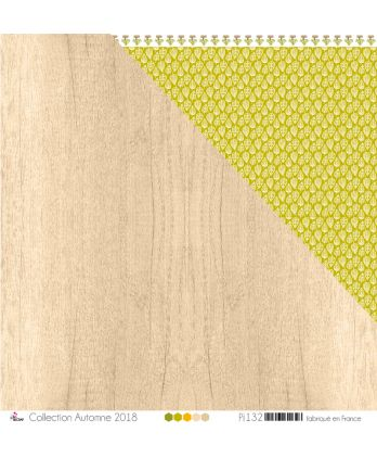 "Printed paper Scrapbooking Card making - ""Beige & kraft wood"""