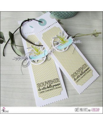 Tampon transparent Scrapbooking Carterie texte photo - Portrait