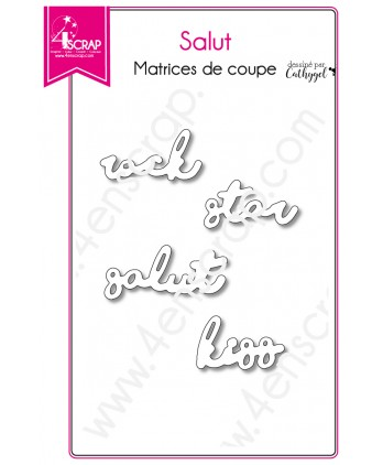 Matrice de coupe Scrapbooking Carterie mot rock star kiss - Salut