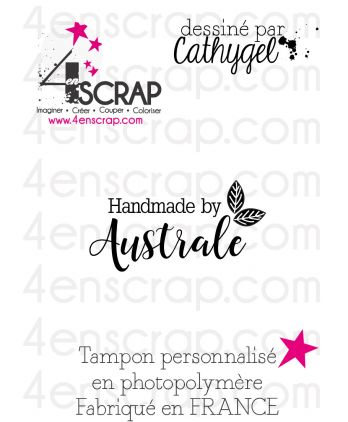 "Rubber customized stamp Scrapbooking Card Making - Signature ""Australe"""