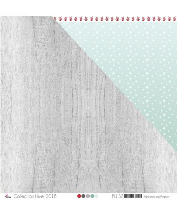"Printed Paper Scrapbooking Card making - ""Light Gray & Anthracite Wood"""