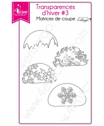Cutting die Scrapbooking Card making Christmas Tree Snowflake berry - Winter Transparencies 3