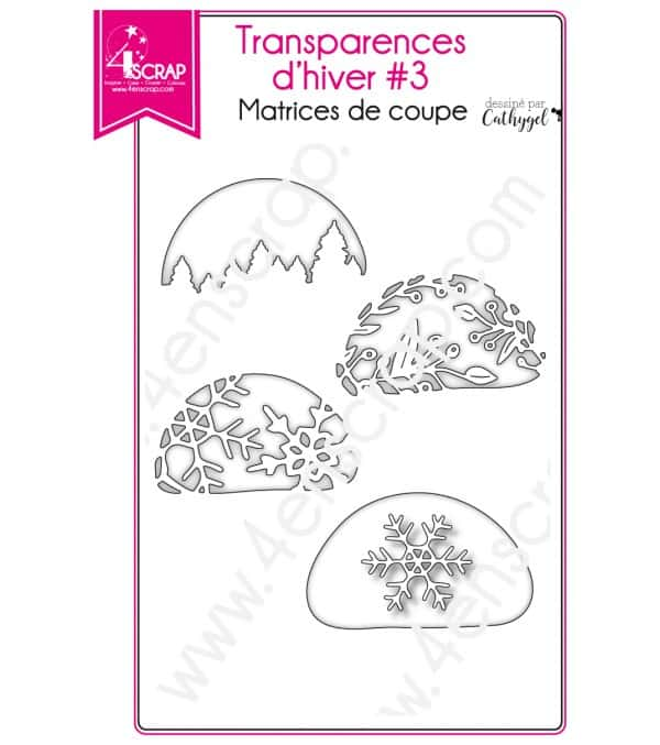 Matrice de coupe Scrapbooking Carterie flocon baie sapin - Transparences d'hiver 3