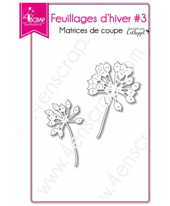 Cutting die Scrapbooking Card making Flower Branch Stem - Winter Foliages 3