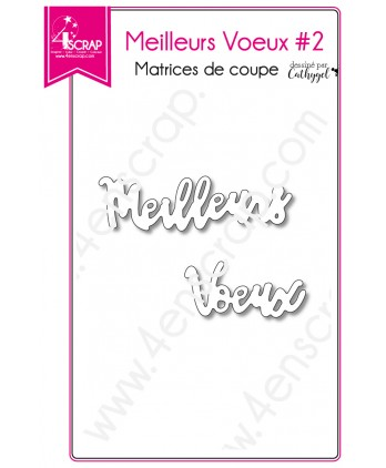 Cutting die Scrapbooking Card making word holiday New Year - Best Wishes 2