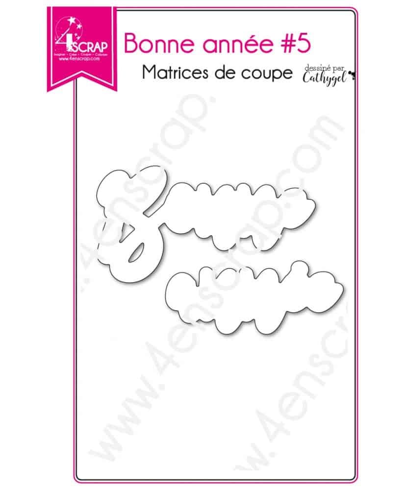 matrice de coupe scrapbooking carterie mot fte nouvel an bonne anne 5 loading zoom