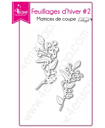 Cutting die Scrapbooking Card making Branch Berry - Winter Foliages 2