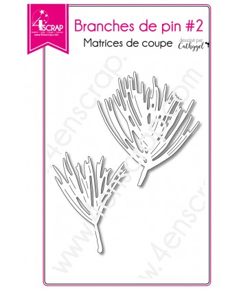 Cutting die Scrapbooking Card making Fir Stem Leaf - Pine Branches 2