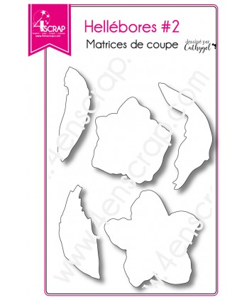 Cutting die Scrapbooking Card making Flower Leaf Winter - Hellebores 2