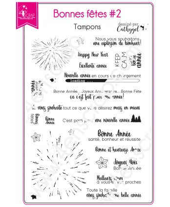 Clear Stamp Scrapbooking Card making New Year Eve - Happy Holidays 2