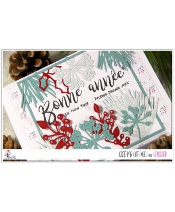 Tampon transparent Scrapbooking Carterie mot bonne année - Happy New Year