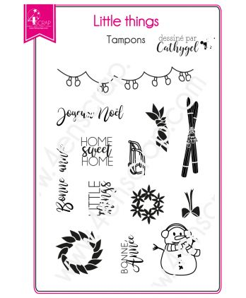 Tampon transparent Scrapbooking Carterie noël - Little things