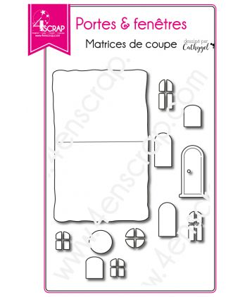 Cutting die Scrapbooking Card making home house - Doors & windows