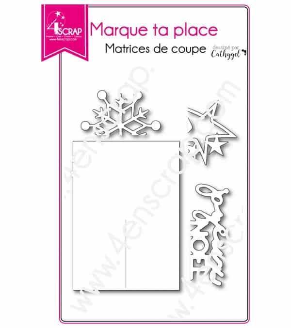 Matrice de coupe Scrapbooking Carterie déco table - Marque ta place