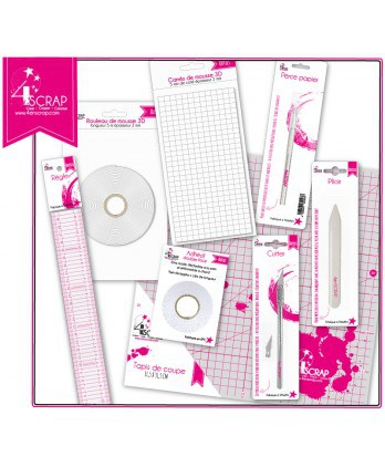 "Outil Scrapbooking Carterie - Pack ""Les indispensables"""