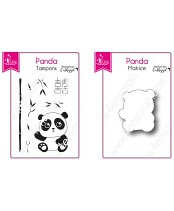 Clear stamp cuting Die Scrapbooking Card making bamboo animal - Baby Panda