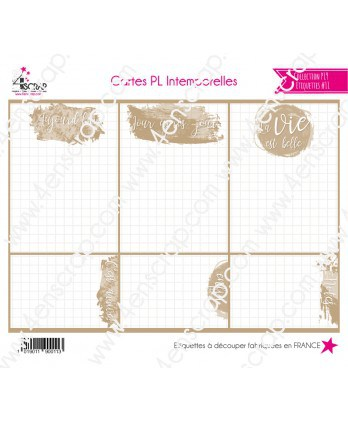 Scrapbooking Cutting Label - Timeless PL Cards