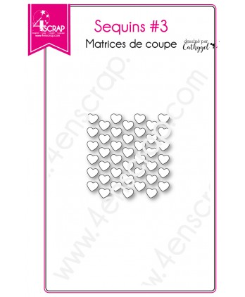 Matrice de coupe Scrapbooking Carterie shaker card coeur - Sequins 3