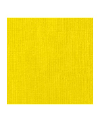 Papier uni Scrapbooking Carterie - Vaessen Lemon Yellow