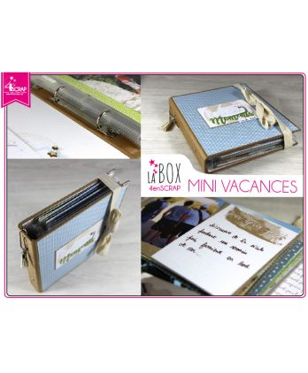 "Tampon transparent matrice die Scrapbooking Carterie - Pack ""Vacances"""