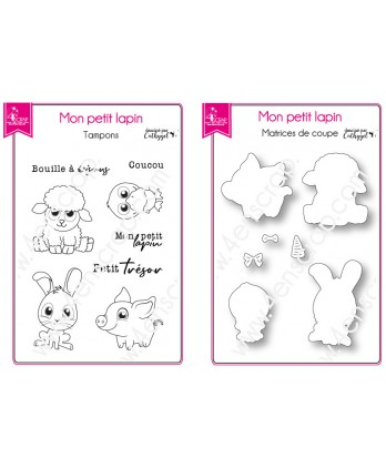 Cutting Die Clear Stamp Scrapbooking Card Making Animal Farm Baby - My Little Rabbit
