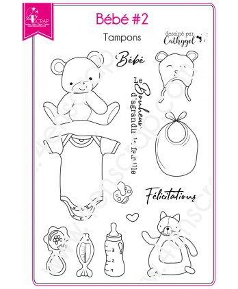 Clear Stamp Scrapbooking Card making Child Birth Stuffed Toy - Baby 2