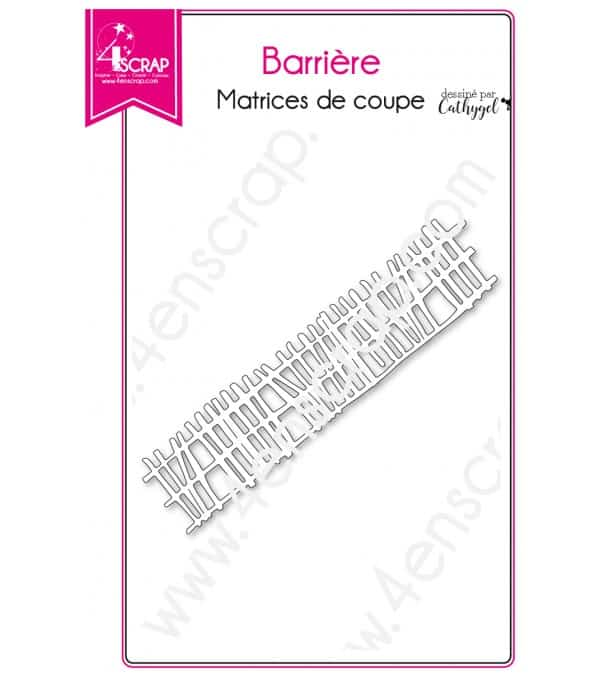 Matrice de coupe Scrapbooking Carterie ferme cloture - Barrière