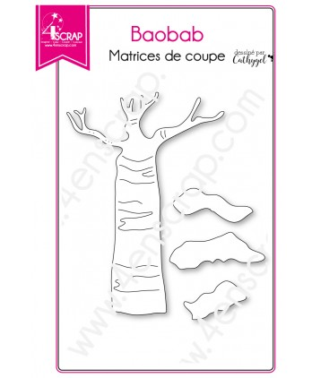Cutting die Scrapbooking Card making Tree Savannah Trunk - Baobab