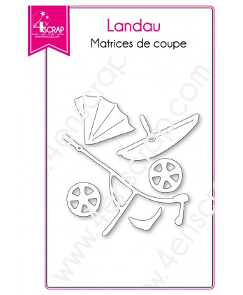 Cutting die Scrapbooking Card making Baby Birth Stroller - Pram