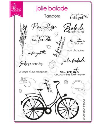 Clear Stamp Scrapbooking Card making Happiness Family Memory - Pretty Ride