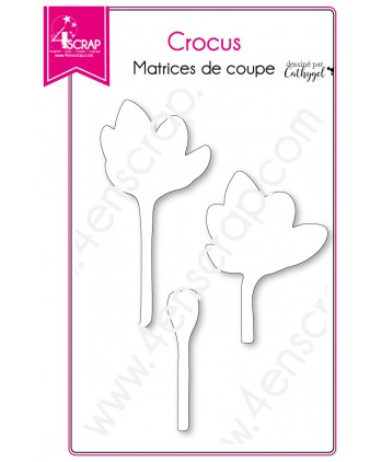Cutting die Scrapbooking Card making Flower Leaf Stem - Crocus