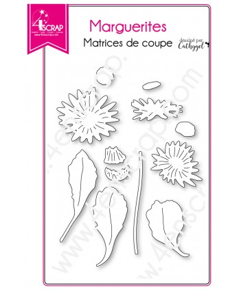 Cutting die Scrapbooking Card making Flower Leaf Nature - Daisies
