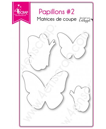 Matrice de coupe Scrapbooking Carterie animal insecte printemps - Papillons 2